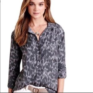 Anthropologie cloth and stone leopard button down